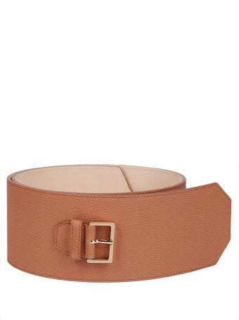 Agnona Brown Leather Belt