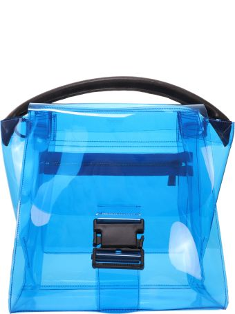 Zucca Blue Pvc Buckled Bag
