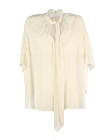Chloé Short Sleeves And Bow Soft Neck Shirt