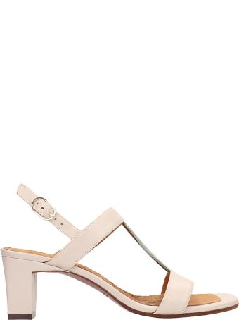 Chie Mihara Beige Leather Lopal Sandals
