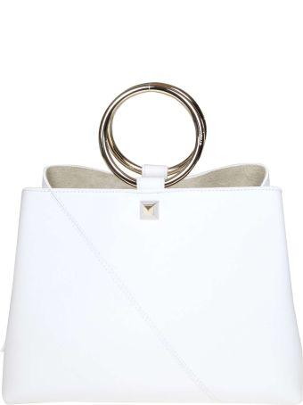 Salar Handbag Polly In White Leather