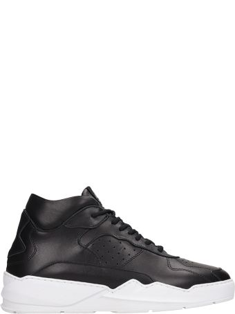 Filling Pieces Black Leather Lay Up Ices Sneakers