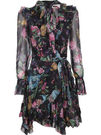 Zimmermann Ninety-six Frill Wrap Dress