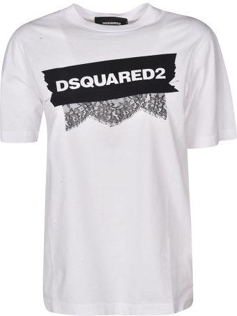 Dsquared2 Appliqué Lace T-shirt
