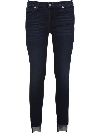 7 For All Mankind The Skinny Crop Slim Illusion Luxe Primary Jeans