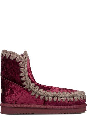 Mou Bordeaux Velvet Eskimo 18 Low Boot
