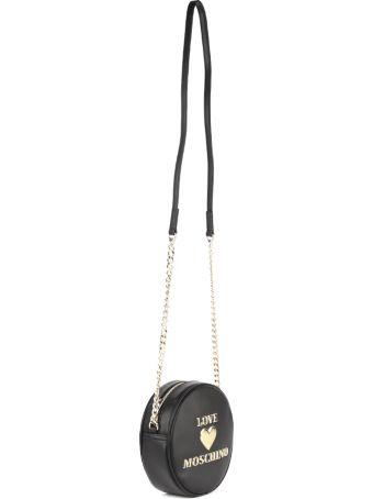 Love Moschino Black Pvc Circle Bag