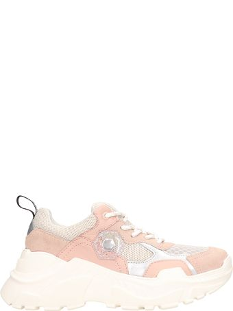 M.O.A. master of arts Pink Suede And Fabric Runnig Kar Sneakers