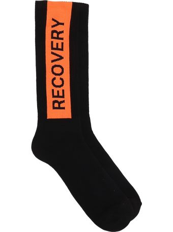 Palm Angels Recovery Black Cotton Socks