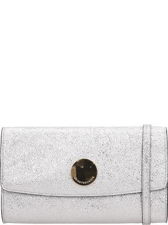 L'Autre Chose Continental Wallet Silver Leather