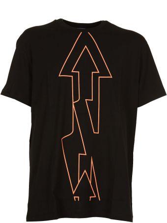 Les Hommes Urban Arrow Print T-shirt