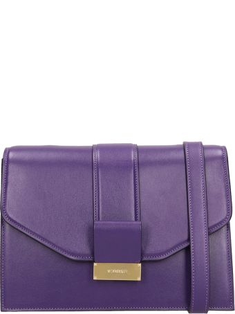 Visone Carrie Small Violet Leather  Bag