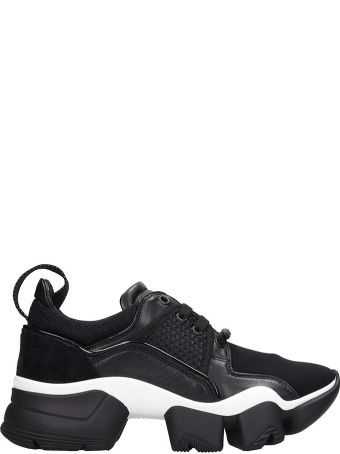 Givenchy Black Neoprene Jaw Low Sneakers