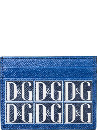 Dolce & Gabbana  Genuine Leather Credit Card Case Holder Wallet