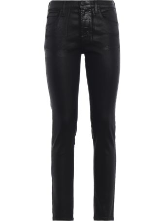 Jacob Cohen Kimberly Crop Coated Denim Skinny Jeans
