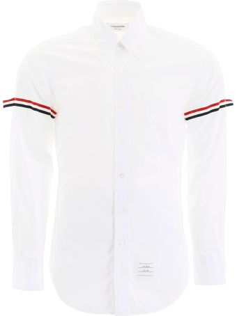 Thom Browne Shirt With Tricolor Bands