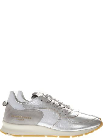 Philippe Model Montecarlo Silver Laminated Leather Sneakers