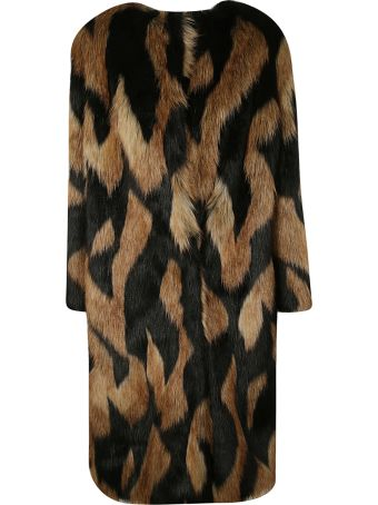 Givenchy Faux Furred Coat