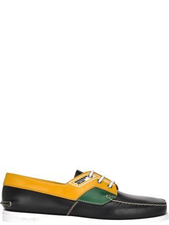 Prada Prada Colour Block Boat Shoes