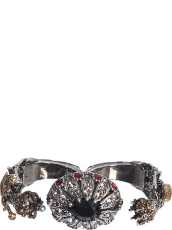 Alexander McQueen Double Skeleton Ring