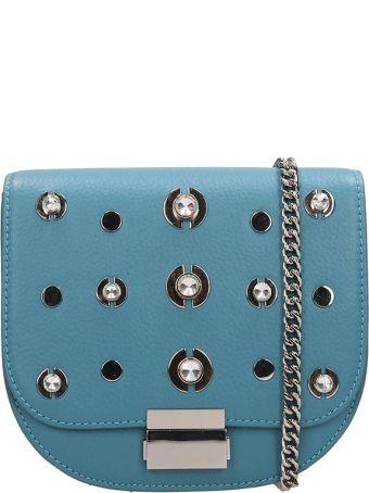Lola Cruz Guss Light Blue Leather Bag