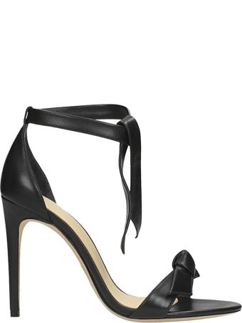 Alexandre Birman Black Leather Sandals