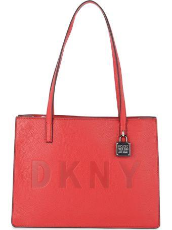 DKNY Commuter Medium Red Leather Shoulder Bag