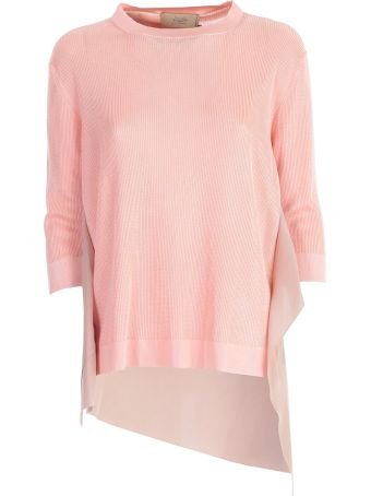 Maison Flaneur Knitted Uneven Sweatshirt