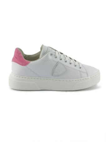 Philippe Model White Leather Temple Femme Sneaker