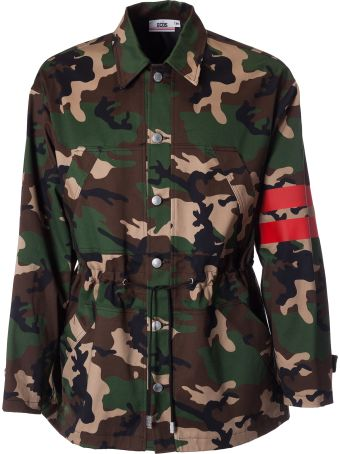 GCDS Camouflage Print Jacket