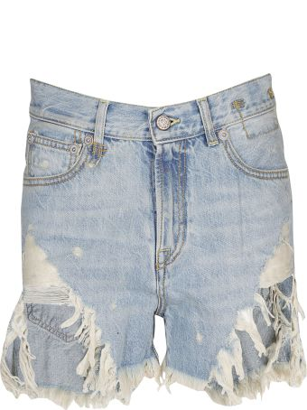 R13 Tilly Shredded Slouch Shorts
