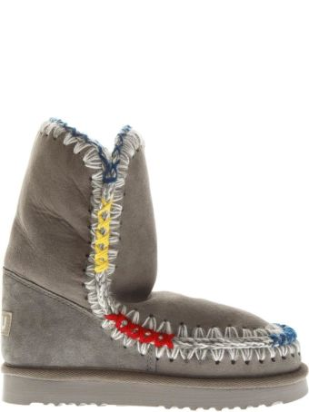 Mou Gray Eskimo Shearling Boots