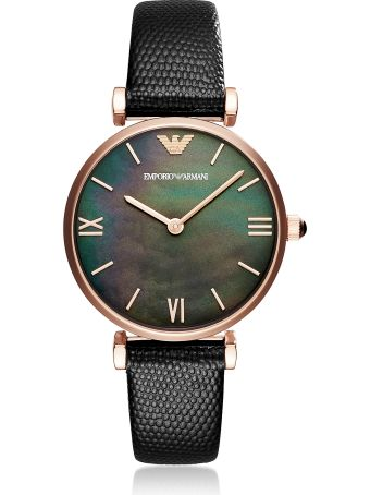 Emporio Armani Gianni T-bar Black Women's Watch