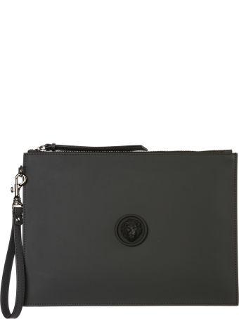 Versus Versace  Leather Clutch Handbag Bag Purse Lion Head
