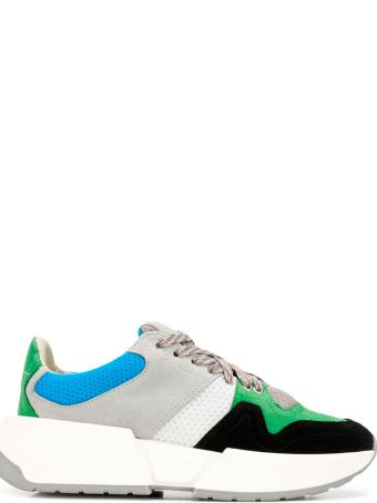 MM6 Maison Margiela Multicoloured Suede And Mesh Sock Sneakers