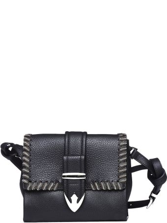 Orciani Joy Black Leather Mini Bag