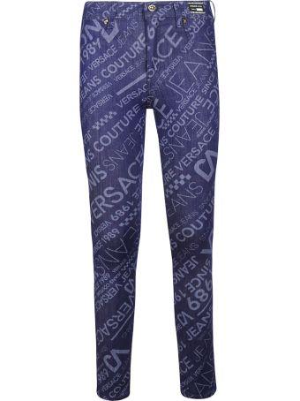 Versace Logo Skinny Jeans