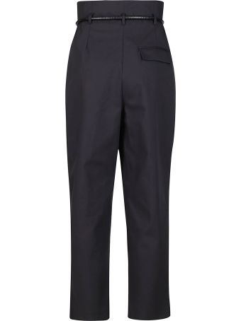 3.1 Phillip Lim Black Cotton Blend Trousers