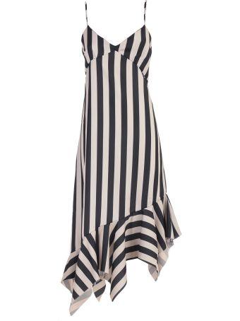 Marques'Almeida Dress Striped W/irregular Bottom