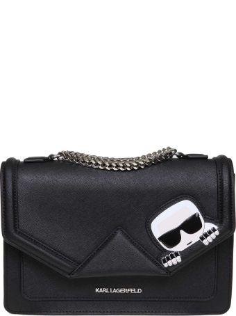 Karl Lagerfeld K / Ikonik Shoulder Bag In Leather