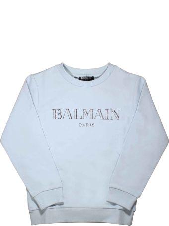 Balmain Blue Sweatshirt