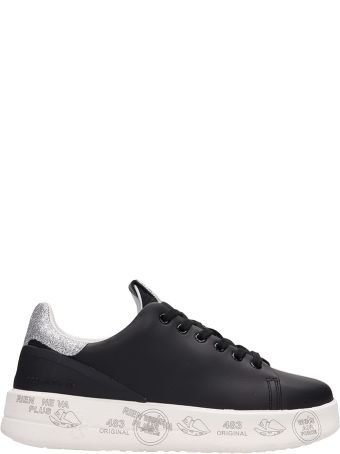 Premiata Black Leather Belle Sneakers