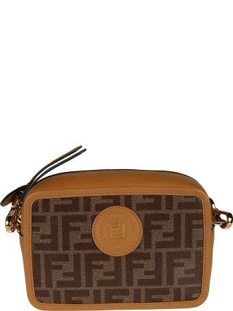 Fendi Ff Logo Patch Mini Shoulder Bag