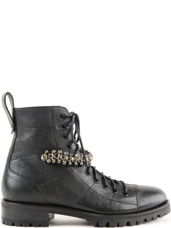 Jimmy Choo Crystal Combat Boots