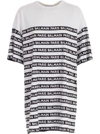 Balmain Oversized Logo-strip T-shirt
