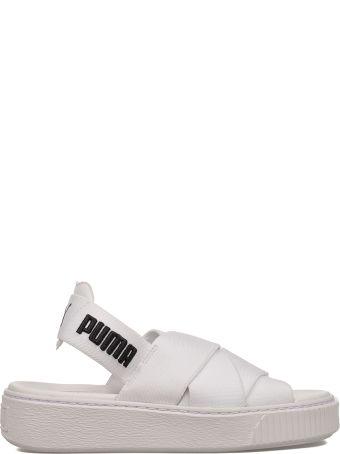 Puma White Platform Sandal