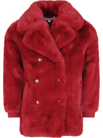 Chloé Red Faux Fur For Girl