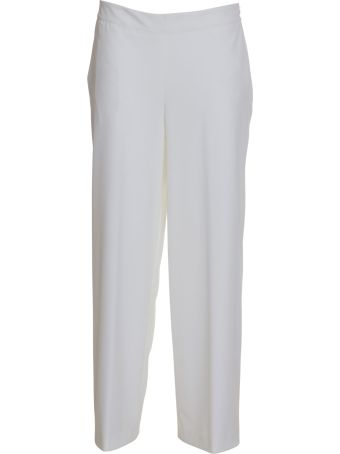 Stefano Mortari Cropped Palace Trousers In White
