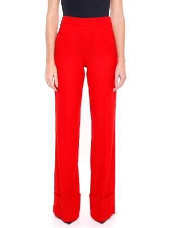 Edward Achour Paris Wool Crepe Trousers
