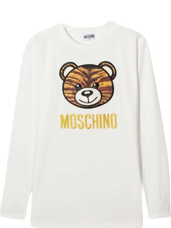 Moschino White Teen Sweatshirt